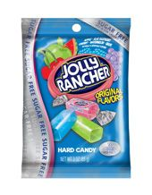 Sugar Free Jolly Ranchers in Fruit Flavors These Sugar Free Jolly Ranchers come in the following assorted fruit flavors ~ Watermelon, Grape, Apple & Raspberry. Each piece is only 10 calories and naturally & artificially flavored