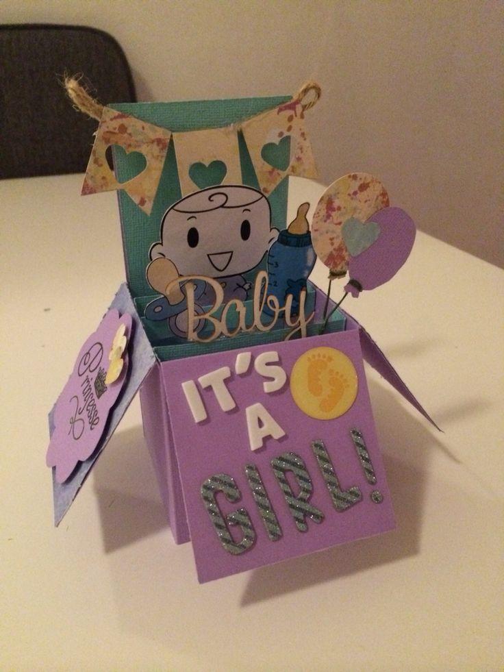 Popup card for babyshower