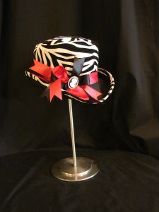 New design in flocked zebra taffeta
