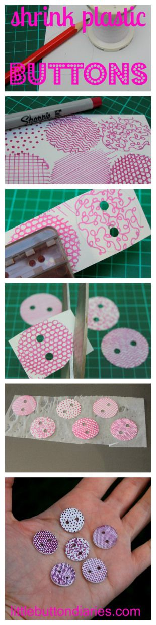 shrink plastic buttons littlebuttondiaries