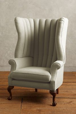 Anthropologie Linen English Fireside Chair #AnthroFave
