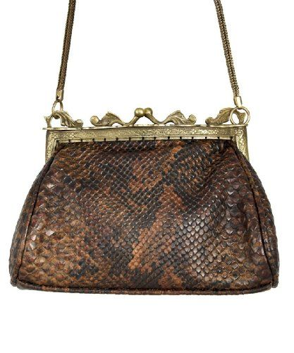 Snakeskin design vintage style evening bag Rocker Handbag $74.95