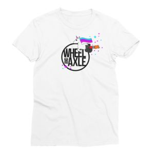 unicorn wheel and axle t-shirt flying with wheelchair t-shirt brand clothing