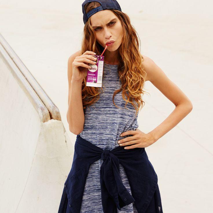 Tennessee Strapy Tee Dress, Giselle Cotton Shirt, Essential Cap. #cottonon #juicebox #fashion #womensfashion #streetstyle #bluedress