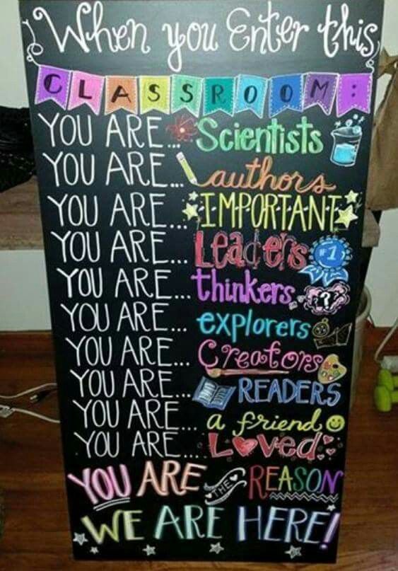 We should do this on one of the bulletin boards at the entrances!!