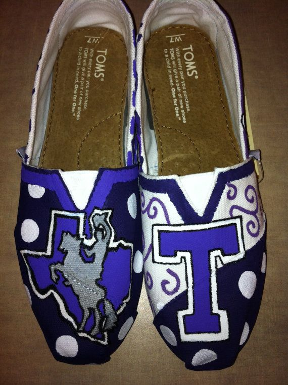 Tarleton State University Painted Toms on Etsy, $95.00