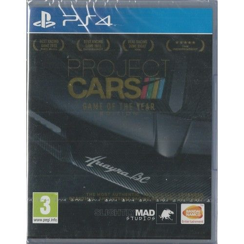 Playstation 4 Project CARS - Game of the Year Edition BRAND NEW UNRIVALLED IMMERSION World-class graphics and handling, dynamic environments, visceral sound, and deep tuning & pit stop functionality! With both virtual reality and 12K support built in, Project CARS is ready to be experienced either in virtual reality or at a truly cinematic resolution, and with support for over 30 wheels and a range of community-created second screen apps, it leaves the competition behind in the dust!