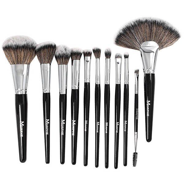 Sleek and sophisticated – this 11-piece black and silver brush set is a perfect gift for any makeup lover with a complete range of essentials for face and eyes. The set is made with ultra-soft synthetic bristles and includes a black mesh zipper case for easy and convenient travel.