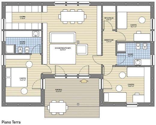 Oltre 25 fantastiche idee su arredamento case for Planimetrie rustiche