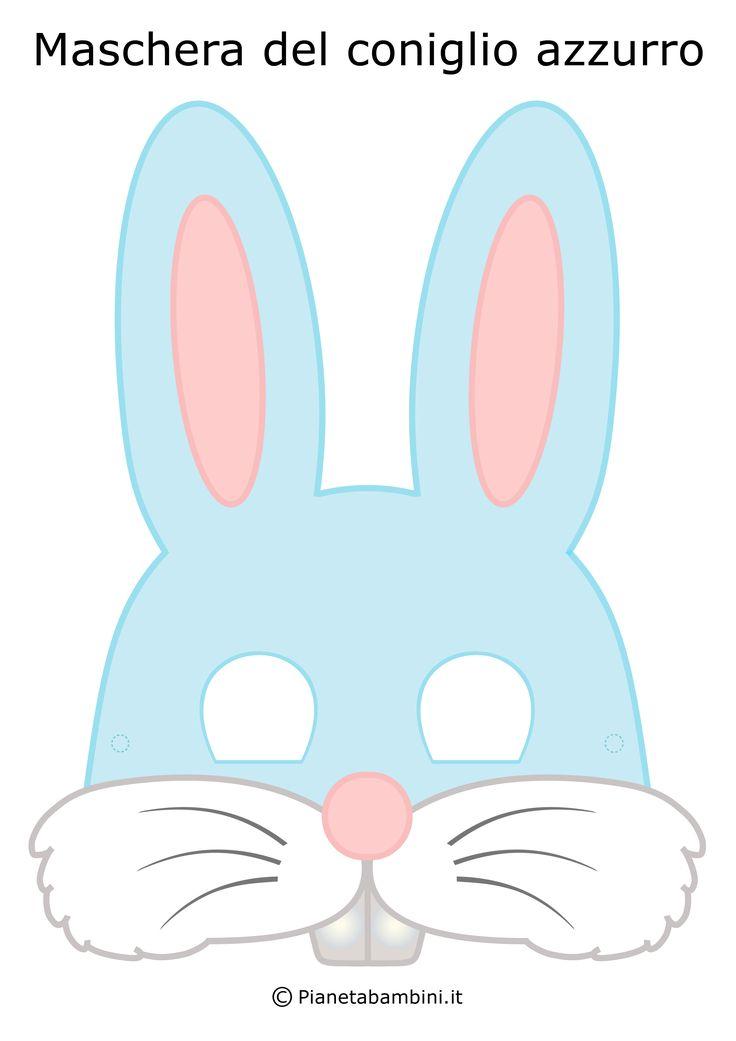 Maschera Coniglio Azzurro