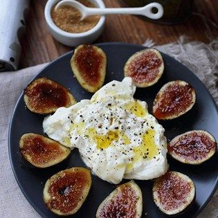 """Fig Brulee with Burrata Cheese I """"This turned out great. Though I used honey, I drizzled on top. Delish!"""""""