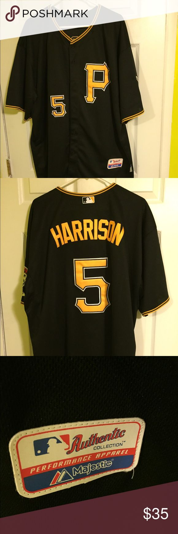 Josh Harrison Pirates jersey Pirates jersey #5 Josh Harrison. Cool Base technology designed to keep you cool while you watch America's favorite game! Majestic Shirts