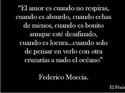 El amor/ Federico Moccia.