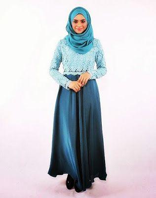 Model Baju Muslim Brokat Yang Sedang Trend