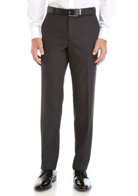 Savile Row Men's Stretch Classic Fit Trousers – Charcoal – 42 X 30