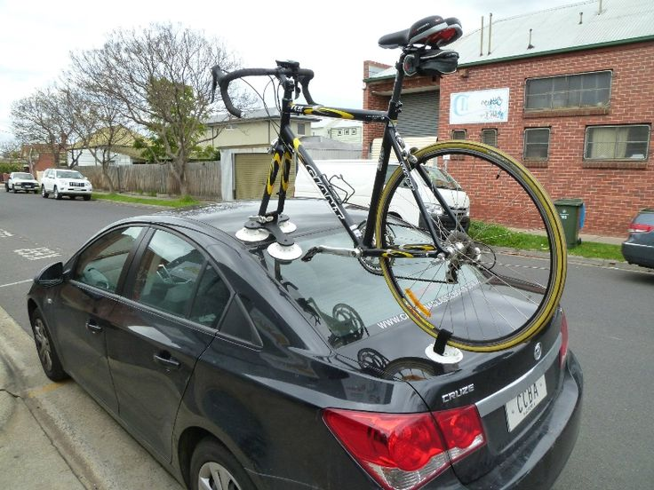 The Seasucker Talon Bike Rack Mounted On A Holden Cruze
