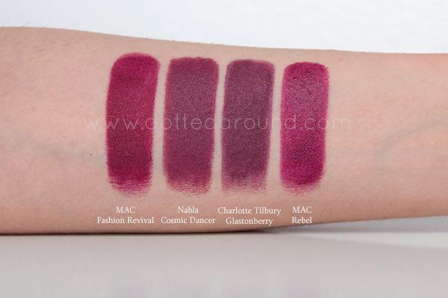 Nabla cosmic dancer diva crime lipstick trucco minerale rossetti viola rosa fuxia home made - Rossetto mac diva ...