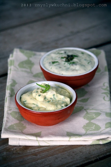 ... homemade Tarragon mayonnaise & Light mayonnaise with capers and dill