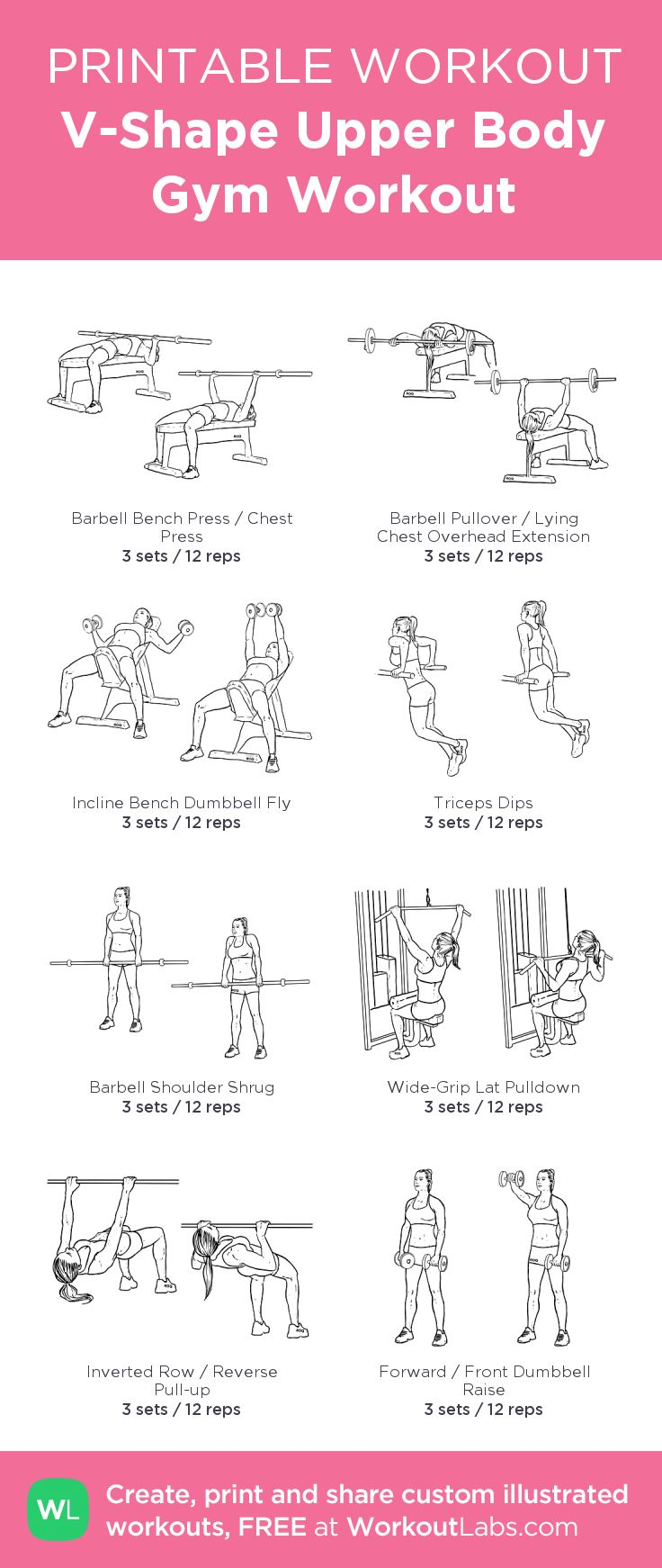 It is an image of Lucrative Printable Gym Workouts