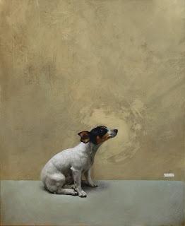 Dog portrait by Fabian de la Rosa, Filipino artist, 1869-1938