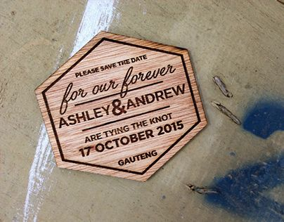 """Check out new work on my @Behance portfolio: """"Save the Date Fridge Magnet"""" http://on.be.net/1MhIj5b"""