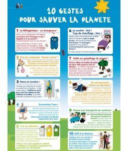 Dix Gestes pour sauver la Planète