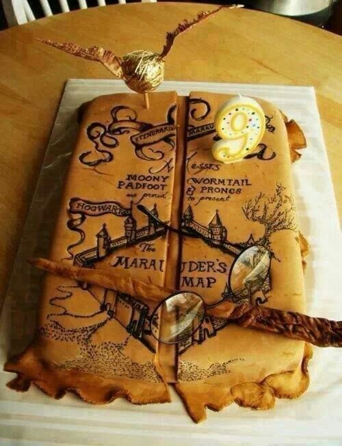 harry potter marauder 39 s map cake for all your cake decorating supplies please visit. Black Bedroom Furniture Sets. Home Design Ideas