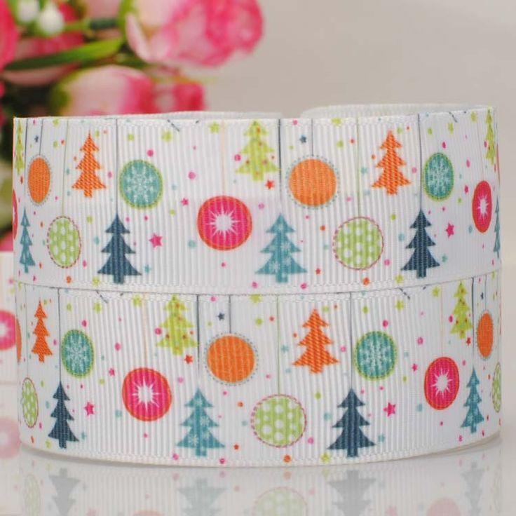 10 ярды 1  25 мм новая рождественская елка лента тканая мультфильм лента лента, Diy ployester лента
