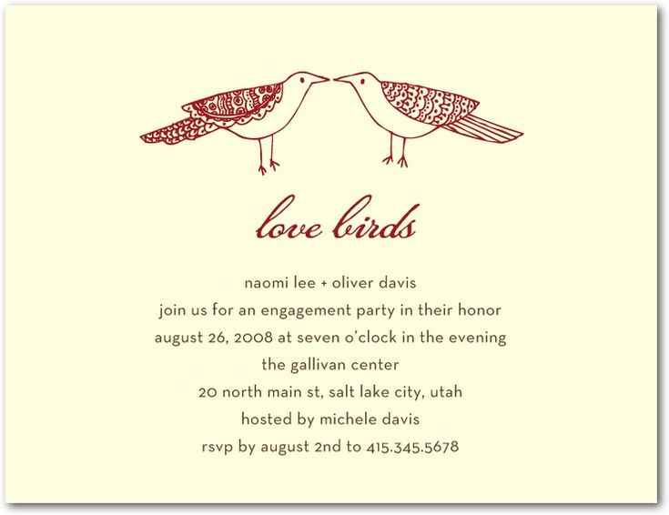29 best LOVE BIRDS ENGAGEMENT PARTY images on Pinterest Clip art - engagement party invitations free