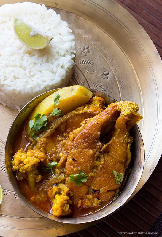 Bhetki Fish Curry with Cauliflower...a Bengali fish recipe!