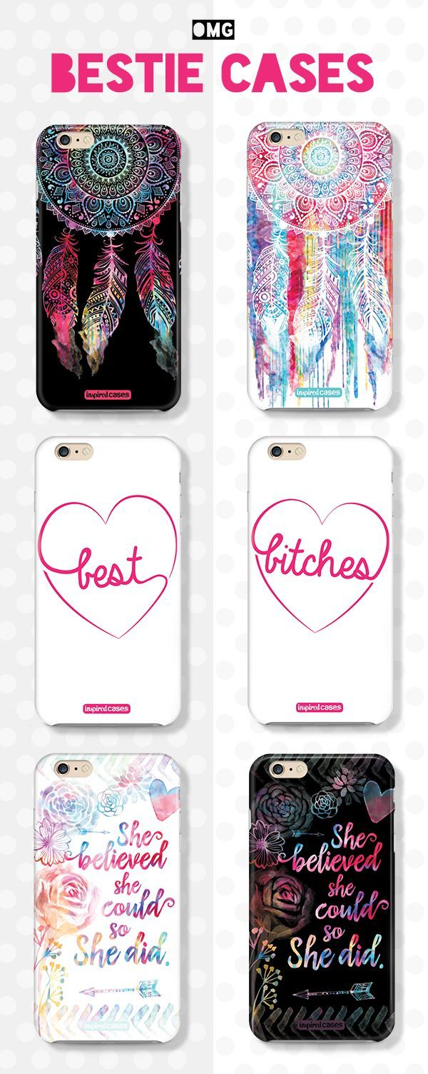 Do you love your bestie? We have matching cases for both of you. Avalible in iPhone 4/4/s 5/5s 6/6+ Galaxy s3,4,5 note 2,3,4 iPad air and mini