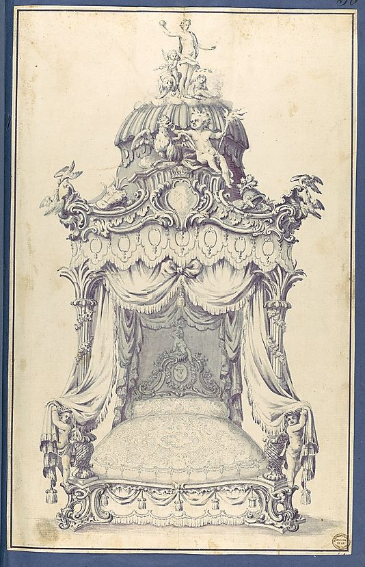 State Bed, in Chippendale Drawings, Vol. I