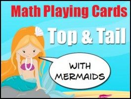 Math Game Playing Cards - 5 Decks - Numbers 1-20, Numbers as Words, Tallies, Ten Frames & Subitized.
