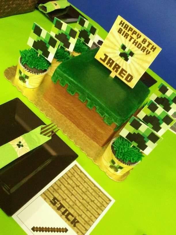 Minecraft Birthday Party Birthday Party Ideas   Photo 25 of 32   Catch My Party