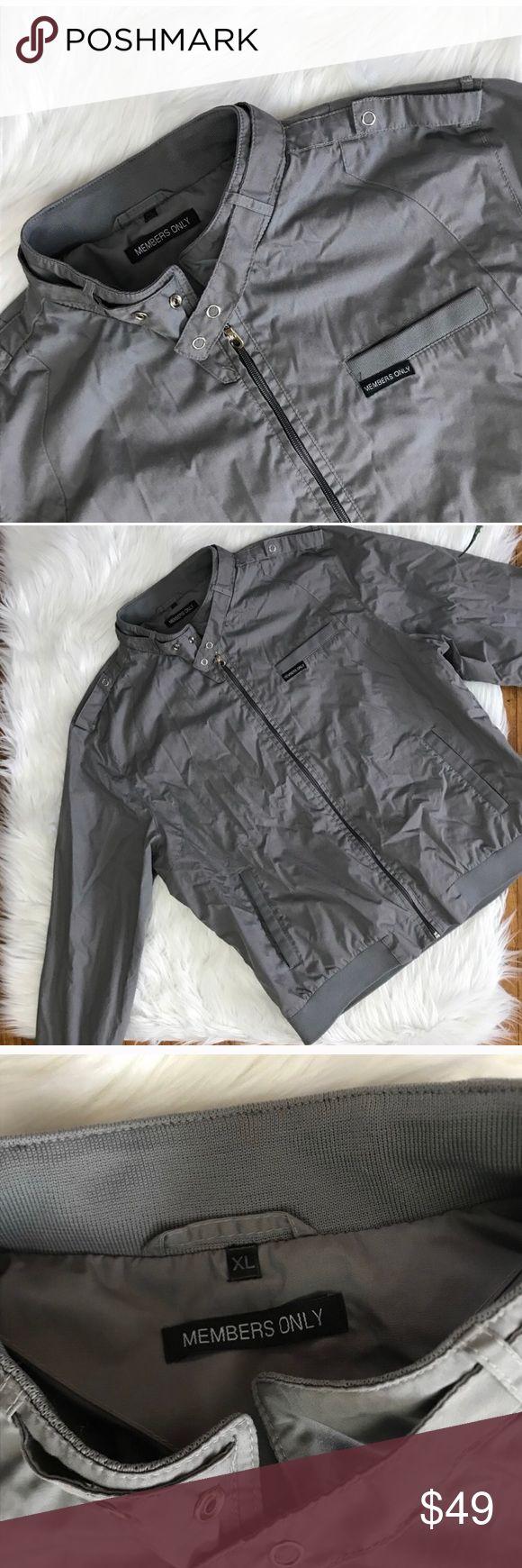 Members Only Grey Bomber Jacket A Members Only Jackets & Coats Bomber & Varsity