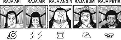 Senhores Feudais! Folha, Névoa, Areia, Pedra, Nuvem... #Naruto