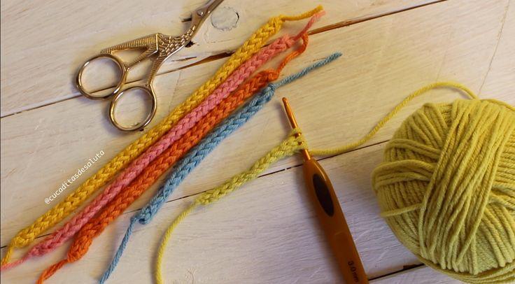 2 Formas de Tejer un Cordón turbular a ganchillo ¡ Icord ! cucaditasdesa...