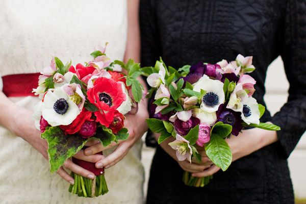 2 picture-perfect bouquets from Twig and Twine in LA. OBSESSED with anemones.