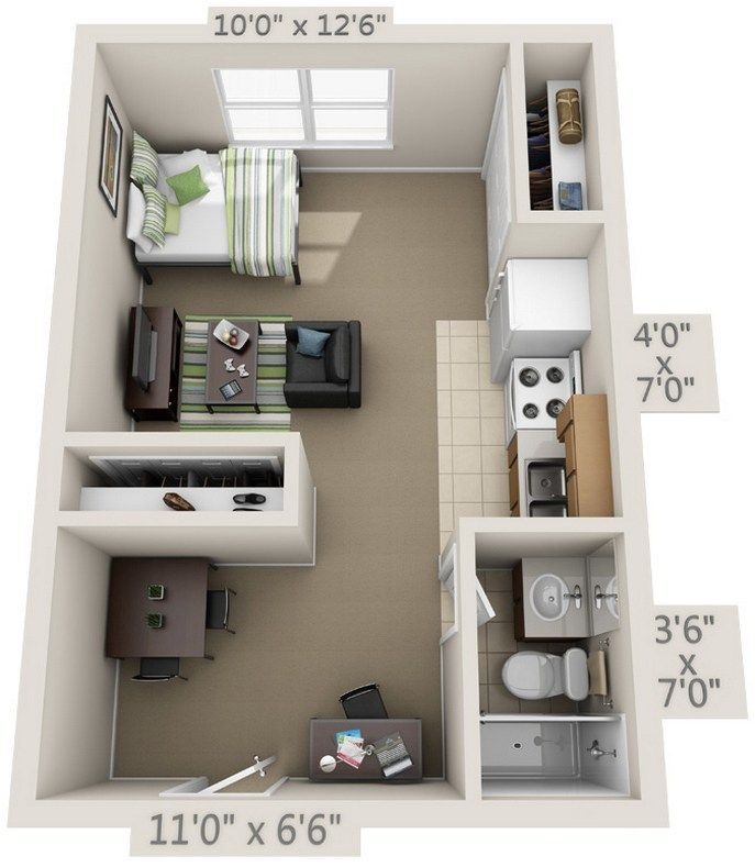 One Room Apartment Layout Ideas 94 Apartment Layout One Room Apartment One Room Houses