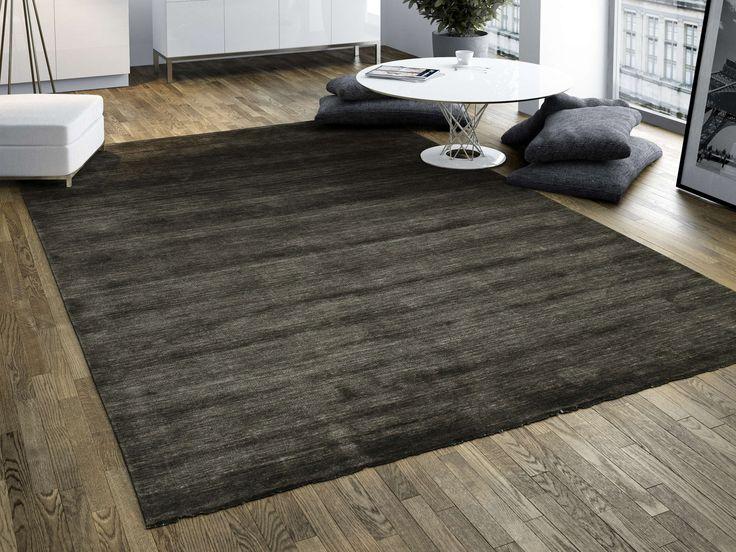 Handloom fringes - Nero / Grigio 200x300 - CarpetVista