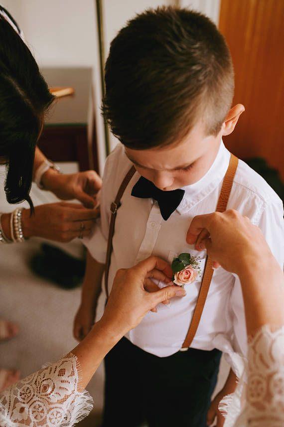 Les garçons nœud jeu de bretelles noeud papillon bébé