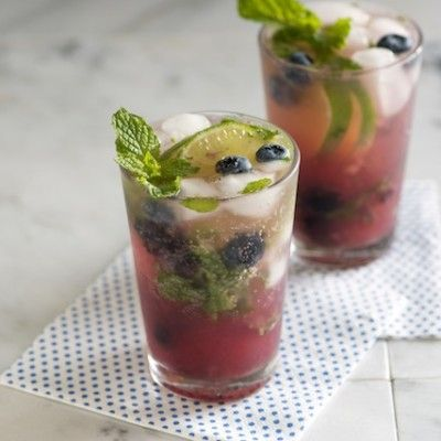 Blueberry Mojito Cocktail from Inspired Taste. Love mojitos, love blueberries. Perfect.