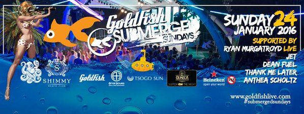 Only TWO Gold Fish @SubmergedSunday events left! Tickets are ALMOST SOLD OUT. Get yours: http://bit.ly/1Pa8tLr