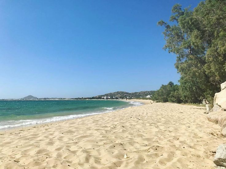 Naxos island (Νάξος) Mikri Vigla is an endless sandy beach with amazing crystal water