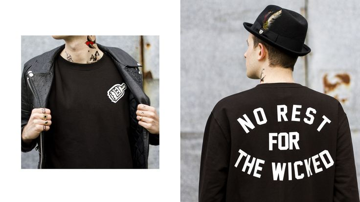No Rest For The Wicked Black Sweatshirt by Art Disco 2MEUxX