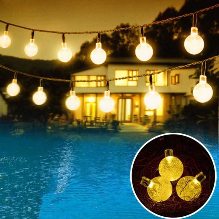 Led Solar Lights Outdoor For Garden Decoration Waterproof Bubble Balls Solar Lamp Luces Solares Lamparas Solares Exterior #Affiliate