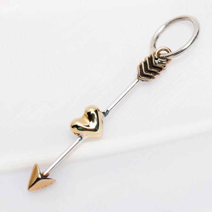 Arrow heart charm #3548 available in stores and online now https://palasjewellery.com.au/stockist-australia/ #palasjewellery #love #moonandback