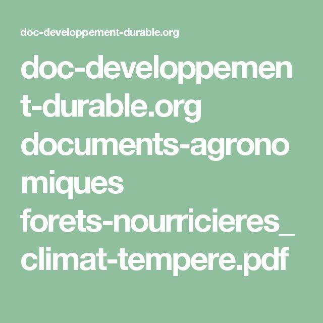 doc-developpement-durable.org documents-agronomiques forets-nourricieres_climat-tempere.pdf