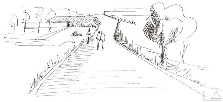 DIBUJO A TINTA I 'El Camino', 2011 - Creado por 'el Lápiz de Alicia'. Los caminos del proceso creativo y de aprendizaje son a la vez inciertos y emocionantes, así como lo es el camino que recorremos en la vida...