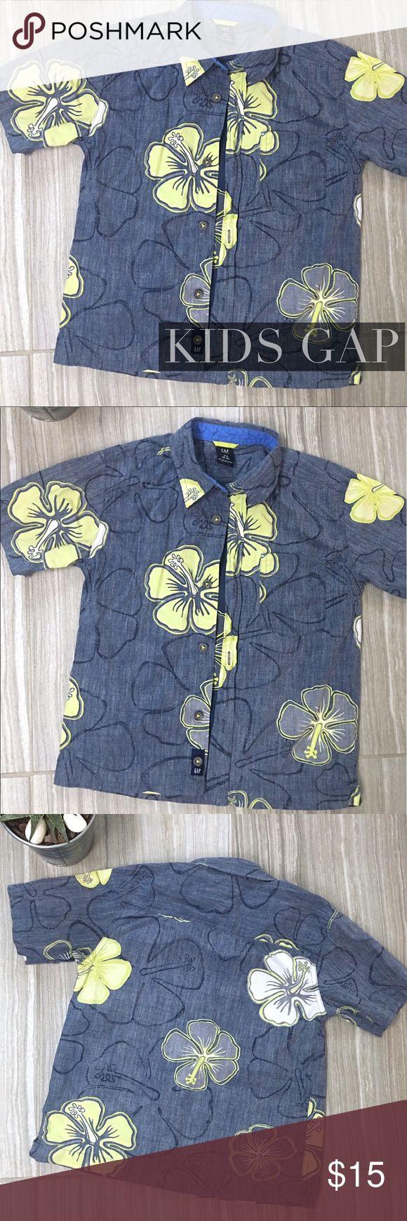 Gap Boys Hawaiian shirt size XS 4-5 Gap boys cotton Button Down Hawaiian print shirt. Size XS (4-5). EUC GAP Shirts & Tops Button Down Shirts